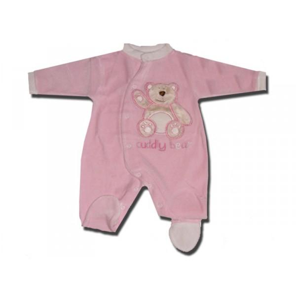 pyjama b b 0 3 mois rose cuddly bear. Black Bedroom Furniture Sets. Home Design Ideas