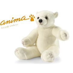 Peluche Ours Blanc 80 cm