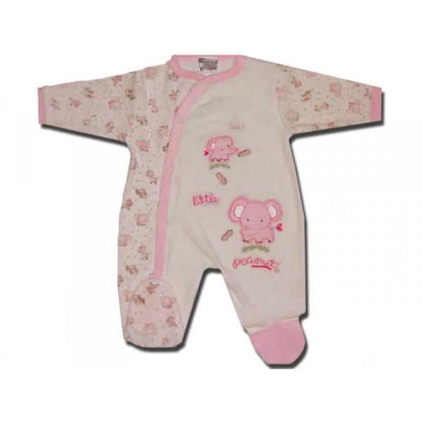 pyjama b b 0 3 mois rose little peanuts. Black Bedroom Furniture Sets. Home Design Ideas