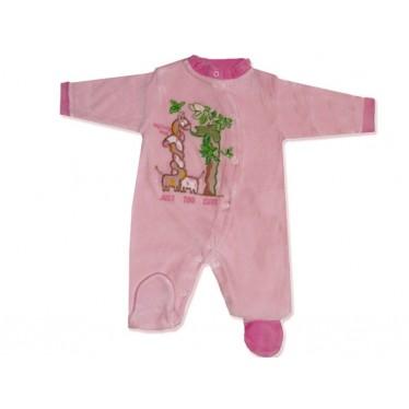 Pyjama bébé 0-3 mois rose Jungle