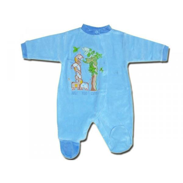 pyjama b b 0 3 mois bleu savane. Black Bedroom Furniture Sets. Home Design Ideas