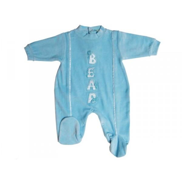 pyjama b b 0 3 mois bleu bear. Black Bedroom Furniture Sets. Home Design Ideas