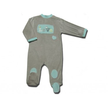 Pyjama Bébé 9 mois Gris Love