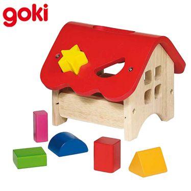 Boîte à formes Maison 6 éléments en bois
