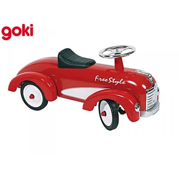 Porteur voiture ancienne rouge - Voiture 3 portes et bebe ...