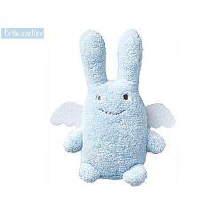 Peluche - Doudou Musical Ange lapin bleu 24 cm