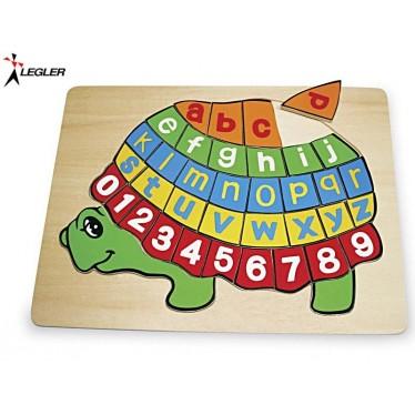 Puzzle bois Tortue ABC