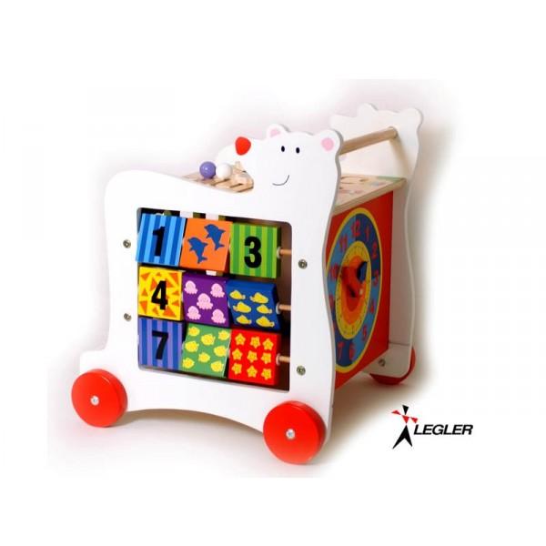 jeux en bois chariot d 39 activit s bois ours. Black Bedroom Furniture Sets. Home Design Ideas