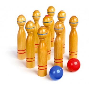 Jeux en bois: Quilles en bois jeu de 9