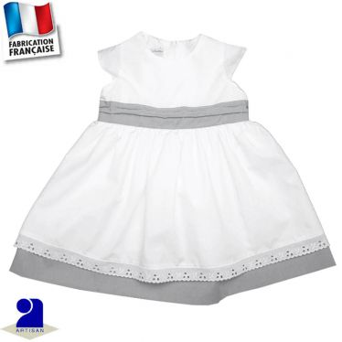 Robe deux jupons 0 mois-6 ans Made in France