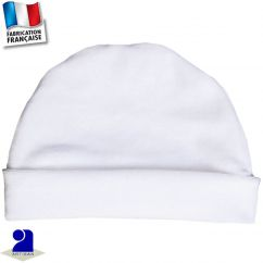 Bonnet avec revers 0 mois-2 ans Made In France