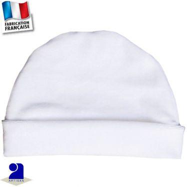 Bonnet avec revers 0 mois-2 ans Made in France