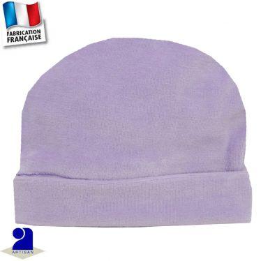 Bonnet avec revers 0 mois-24 mois Made in France