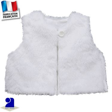 Gilet fausse fourrure Made in France