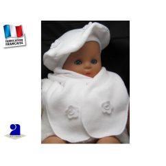 http://bambinweb.com/1734-6950-thickbox/beret-echarpe-blanc-polaire-a-fleurs-fille-3-mois-au-8-ans.jpg