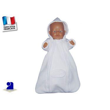 Nid d'ange bébé, polaire blanc