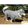 Peluche chien Husky Gris 60 cm