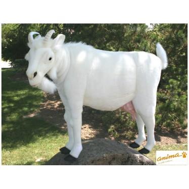Peluche Chèvre blanche 103 cm