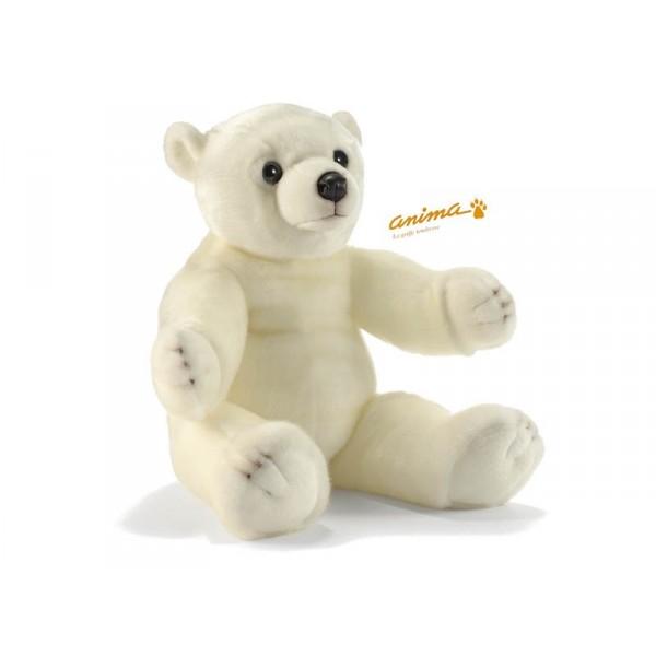 peluche b b ours polaire blanc 60 cm. Black Bedroom Furniture Sets. Home Design Ideas