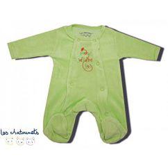 Pyjama prématuré vert