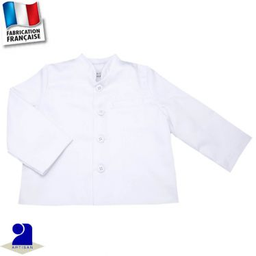 Veste col Mao Made in France
