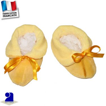 Chaussons avec noeud Made in France