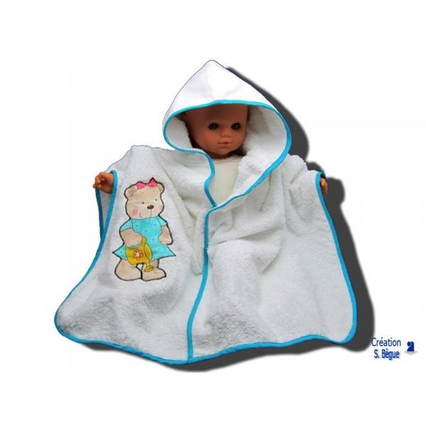 Poncho de bain b b blanc ourson 0 18 mois - Bebe 18 mois ...