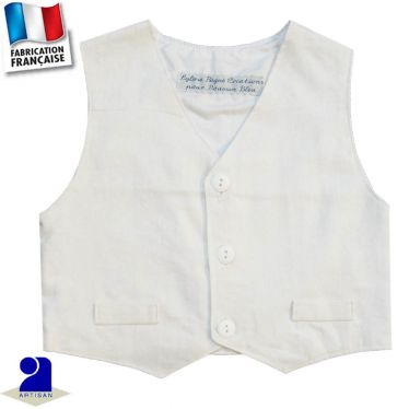 Gilet sans manches lin Made in France