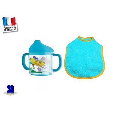 Bavoir bébé et tasse à bec, Oui-Oui