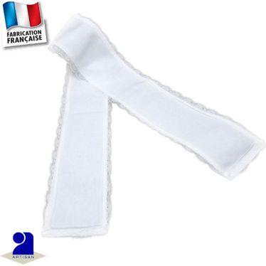 Etole-écharpe cérémonie bordée dentelle Made in France