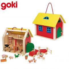Ferme et  Animaux en bois Goki