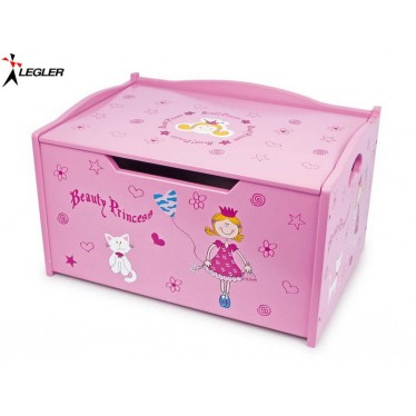 coffre jouets princesse en bois. Black Bedroom Furniture Sets. Home Design Ideas