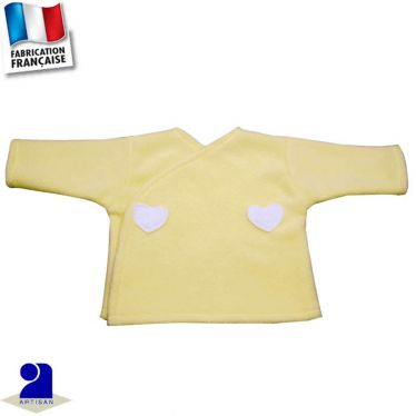 Gilet forme brassière polaire 0 mois-12 mois Made in France