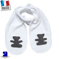 Echarpe ourson appliqué Made in France