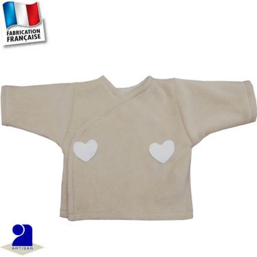 Gilet forme brassière coeurs Made in France
