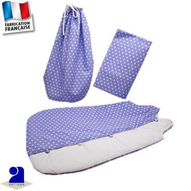 Gigoteuse + drap housse présenté dans un sac Made in France