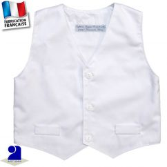 Gilet sans manches 1 mois-10 ans Made in France