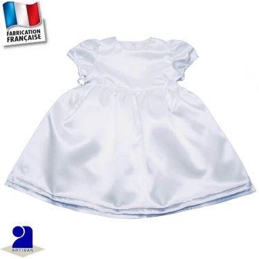 Robe brillante plis surpiqués Made in France