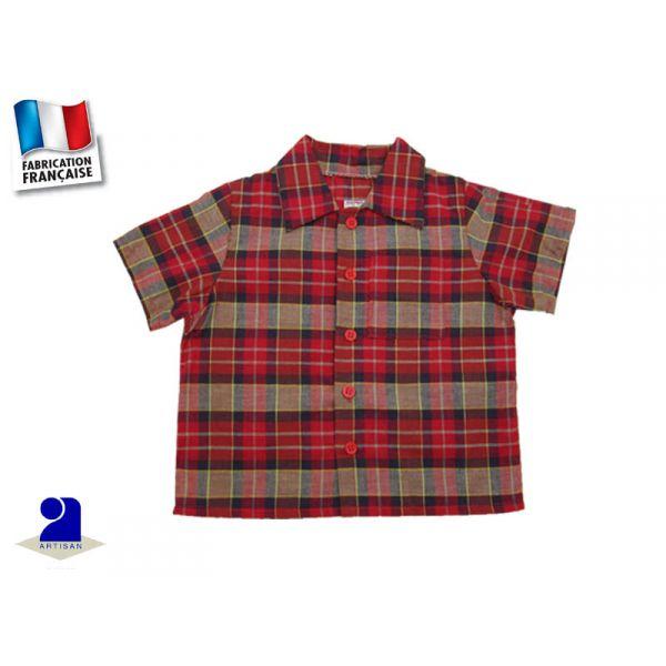 chemise carreaux rouges gar on 18 mois. Black Bedroom Furniture Sets. Home Design Ideas