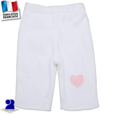 Pantalon chaud coeur appliqué Made in France