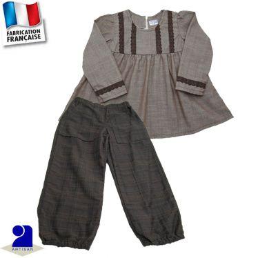 Pantalon+blouse déco dentelle