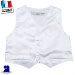 Gilet sans manches brillant 0 mois-10 ans Made in France