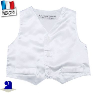 Gilet sans manches brillant Made in France
