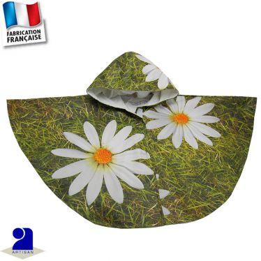 Cape imperméable imprimé Marguerites Made in France