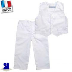 Pantalon+gilet 0 mois-10 ans Made in France