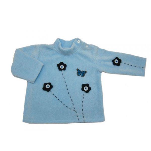 V tement b b ensemble fille 18 mois polaire et velours bleu - Bebe 18 mois ...