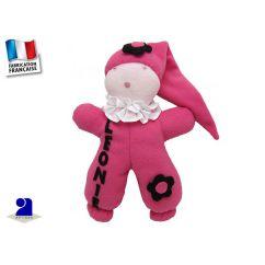 Doudou: Poupée chiffon personnalisée rose