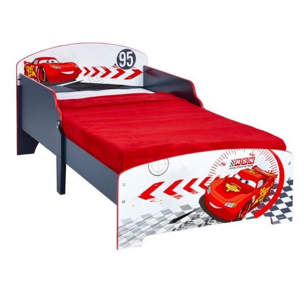 lit enfant cars disney gris et rouge. Black Bedroom Furniture Sets. Home Design Ideas