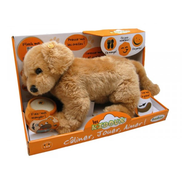 peluche interactive chien beige kidoux. Black Bedroom Furniture Sets. Home Design Ideas