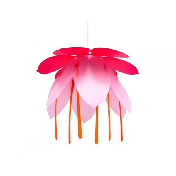 suspension fleur fushia et rose. Black Bedroom Furniture Sets. Home Design Ideas